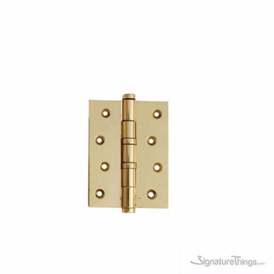 Flat Tipped Brass Bearing Hinge  - 3 MM | Solid Brass Hinges | Brass Hinges | Gifts Box Hinges | Doll House Hinge | Jewelry Box Hinge | Cabinet Door Hinges | Miniature Hinges | Kitchen Cabinet Hinges | | Butterfly Hinges | Mini Hinges | Concealed hinges | Custom Brass Hardware | SignatureThings.com
