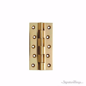 Flat Tipped Butt Hinge - 3 MM Thick | Solid Brass Cabinet Hinge | Decorative Hinges | Brass Hinges | Cabinet Door Hinges | Miniature Hinges | Kitchen Cabinet Hinges | Gifts Box Hinges | Doll House Hinge | Jewelry Box Hinge | Butterfly Hinges | Mini Hinges | Concealed hinges | Custom Brass Hardware | SignatureThings.com