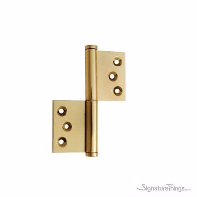 Rectangular leaf Brass Flag Hinge