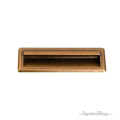 Antique Roma Finish Cabinet Flush Handle