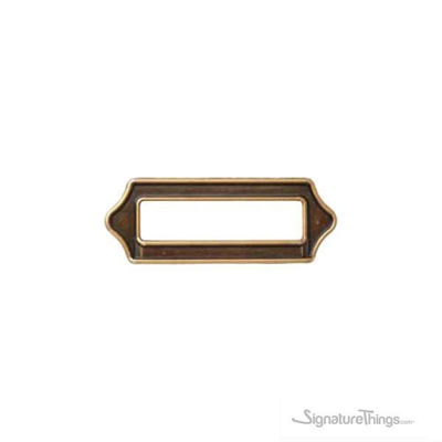 SignatureThings.com Brass Hardware Antique Roma Finish Cabinet Label