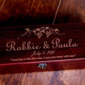 SignatureThings.com Brass Hardware Personalized Wine Box - Wedding Gifts, Engraved Wooden Wine Box