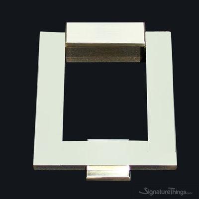 SignatureThings.com Brass Hardware 'KnockIN' Rectangular Door Knocker