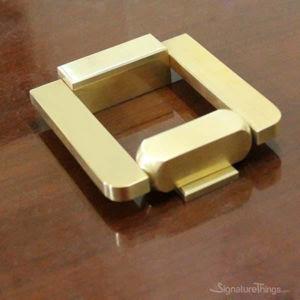 'KnockIN' Square Brass Entry Door Knocker
