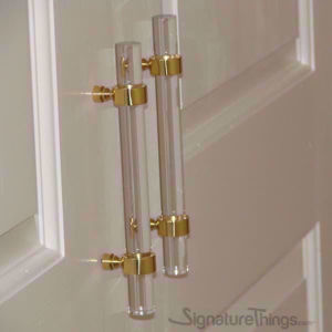 """Door Ring Lucite Handle - 3/4"""" Dia - Lucite Acrylic Drawer Pulls"""