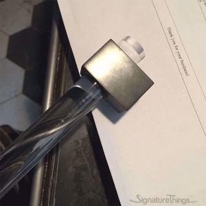 "Brass Cube Lucite Handle - 3/4"" Dia"