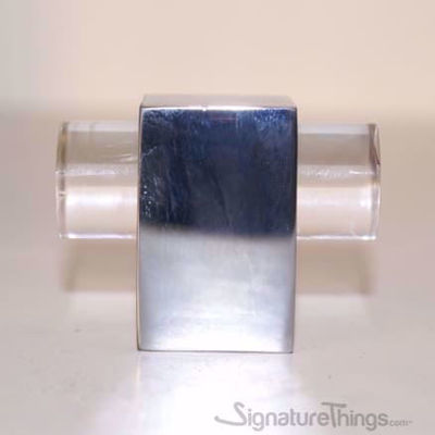 "Modern Cube Lucite Pulls - 3/4"" D, Lucite Brass Acrylic Drawer Furniture Handle Pull - Lucite Drawer Pulls - Cabinet Hardware"