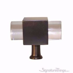 """Modern Cylindrical Post Lucite Pull - 3/4"""" Dia"""