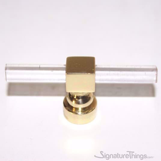 Modern Square Ring Lucite Pulls - 1/4