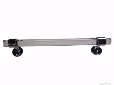 "Lucite Towel Rod With Center Brackets - 1"" Dia 