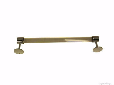 Lucite Acrylic Towel Bar  With End Bracket - 1