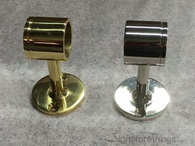 SignatureThings.com Brass Hardware Standard Rod End Bracket Designer