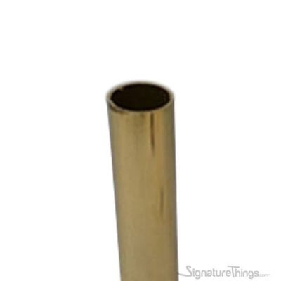 """72 in. Polished Brass Closet Rods & Curtain Rods - 0.125"""" Thick"""