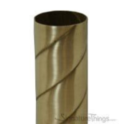 72 in. Twisted Rope Brass Tubing - Closet Rods/ Curtain Rods