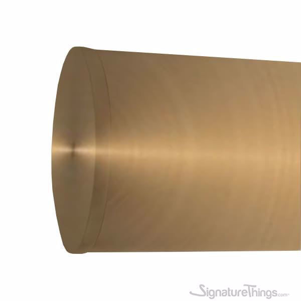 Flush End Cap for Brass Rods |  Brass Tubing Components | Brass Drapery Hardware | Brass Rod Accessories | Signaturethings.com
