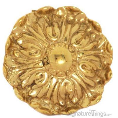 SignatureThings.com Brass Hardware Ornate Tie Back