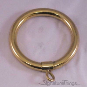 Brass Round Curtain Rings With Eyelet