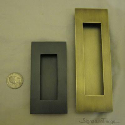 Flush Pull Rectangle - Brass Flush Pulls | Brass Finger Pulls | Flush Pulls For Sliding Doors | Flush Pulls for Bypass Doors | Edge Pulls | Sliding Door Pull Handle | Square Flush Pulls | Round Flush Handle | Rectangualr Flush Pulls | Recessed Pull Handles | Sliding Closet Door Pulls | Flush Pocket Door Pulls | Finger Pull Handles | Recessed Finger Pulls | Modern Door Pulls | Brass Hardware | SignatureThings.com