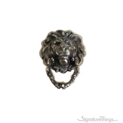 "SignatureThings.com Brass Hardware 8"" Lion Head Door Knocker"
