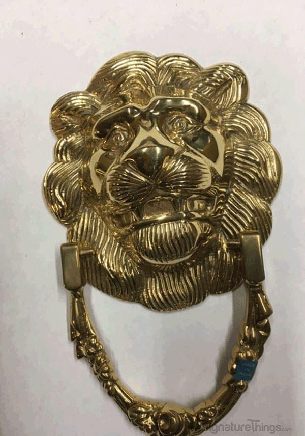 8 Quot Lion Head Door Knocker Solid Brass Front Door
