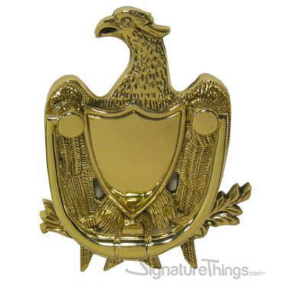 Eagle Door Knocker - Brass Door Knocker | Door Accessories |  Modern Door Knocker | Antique Brass Door Knocker | Personalized Door Knocker | KnockIn Door Knocker | Front Door Accessories | Entry Door Hardware | Brass Hardware | Decorative Door Knocker | SignatureThings.com
