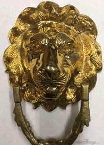 """Lion head Antique door knocker - 3"""" and 6"""" solid brass door knocker"""