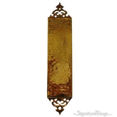 SignatureThings.com Brass Hardware Customized Ornate Push Plate