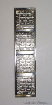 Oriental Push Plate - Door Push Plates | Brass Door Push Plates | Modern Door Push Plates | Door Kick Plate | Brass Door Kick Plate | Barn Door Hardware | Pocket Door Hardware | Entry Door Hardware | Brass Door Accessories | Brass Door Hardware | SignatureThings.com