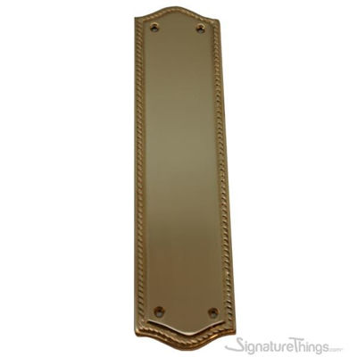 Rope Edge Push Plate - Curved