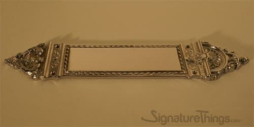 Royal Crest Push Plate - Door Push Plates | Brass Door Push Plates | Modern Door Push Plates | Door Kick Plate | Brass Door Kick Plate | Barn Door Hardware | Pocket Door Hardware | Entry Door Hardware | Brass Door Accessories | Brass Door Hardware | SignatureThings.com