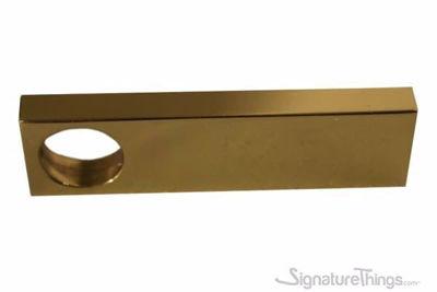 Large Rectangular Brass Finger Drawer Pull