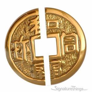 Oriental Brass Pull Round Split