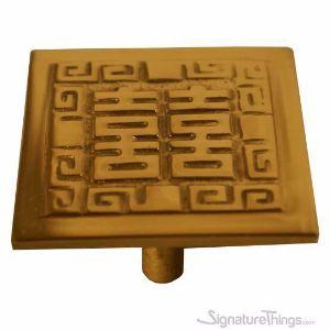 Oriental Square Shape Brass Cabinet Pulls
