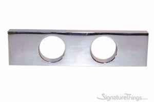 Modern Rectangular Double Hole Finger Drawer Pull