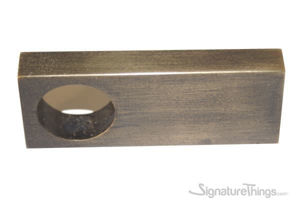 Rectangular Single Hole Brass Finger Pulls - Brass Cabinet Pulls