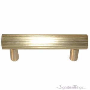 Solid Brass Rib Cabinet Pull Handle  - brass crafted