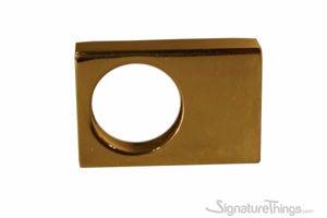 Single Rectangular Mod Brass Finger Pull