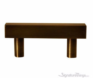 Solid Brass Square Bar Cabinet Pulls - Brass Drawer Pulls