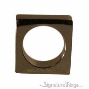 Brass Square Mod Finger Drawer Pulls