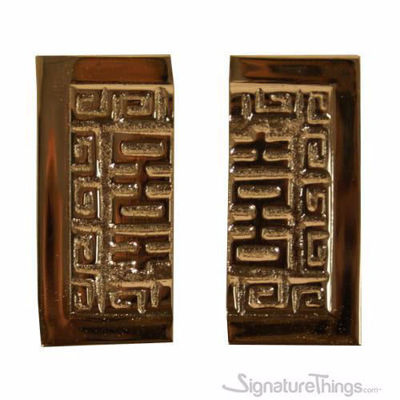 SignatureThings.com Brass Hardware Square Split Handles - Oriental Pull Split Square
