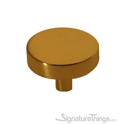 Solid Brass Circle Cabinet Knob