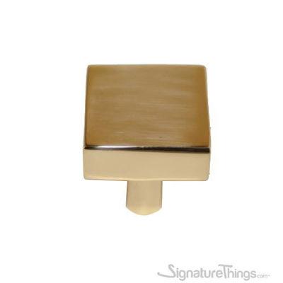 SignatureThings.com Brass Hardware Classic Square Cabinet Knob