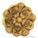 Brass Detailed Flower Cabinet Knob
