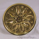 Decorative Brass Medallion Petal Round Cabinet Knob