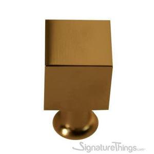 Modern Brass Cube Drawer Knob