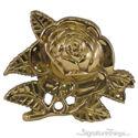 Decorative Brass Rose Pendant Cabinet Knob