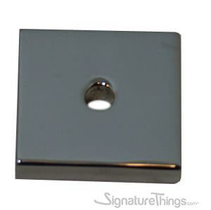 SignatureThings.com Brass Hardware Square Backplate