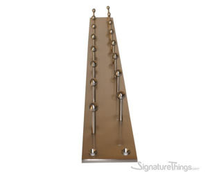 Double Row Tie Rack - Brass Hook Bar | Brass Hook Racks | Coat Hook Rack | Wall Mounted Coat Racks | Decorative Hook Racks | Tie Rack | Solid Brass Hook Racks | Modern Hook Rack | Hat and Coat Hooks | Brass Hooks | Brass Hardware | SignatureThings.com