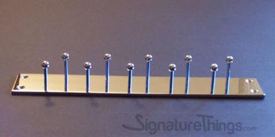 Double Row Tie Rack - Brass Hook Bar | Brass Hook Racks | Coat Hook Rack | Wall Mounted Coat Racks | Decorative Hook Racks | Tie Rack | Solid Brass Hook Racks | Modern Hook Rack | Hat and Coat Hooks | Brass Hooks | Brass Hardware | SignatureThings.com