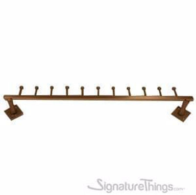 Traditional Brass Coat Rack - Single Row - Wall Mounted Hook Rack